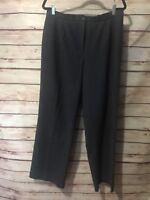 Tribal Stretch-Extensible Gray Pinstripe Size 16 Dress Pants Women's Career Wear