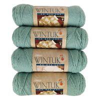 Lot 4 Skeins Caron Wintuk No Dye Lot Yarn Sage 100% Monsanto Acrylic 3.5oz 3149