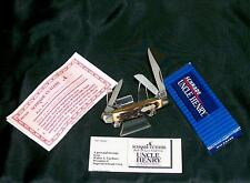 """Schrade 807Uh Knife Junior Stockman 2-3/4"""" 1980's W/Packaging,Papers,Loss Cert."""