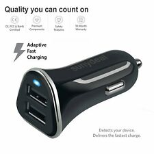 Fast Car Charger for Android and IPhone Rapid Quick Charge 12V Dual USB Port