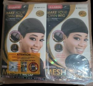 Qfitt Mesh Dome Style Wig Cap XL #5021 LOT OF 12 Black