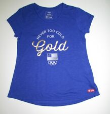 OLD NAVY Girls USA Olympics Gear Never too Cold for Gold Size L (10-12)