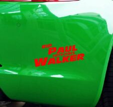 Pegatinas RIP paul walker coche JDM tuning OEM decal StickerBomb 15x6 cm rojo