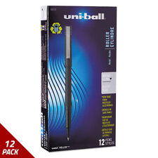 10 Packs of UNI-BALL ROLLER Dye-Based Pens Micro Black 12/pack, 120 Pens     #AJ