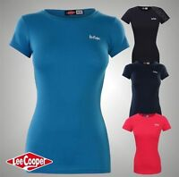 Ladies Designer Lee Cooper Short Sleeves Casual T Shirt Top Size 8 10 12 14
