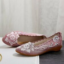 Women's Soft Bottom Fashion Three-dimensional Flower Beads Embroidered Shoes