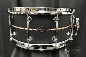 Craviotto Custom Shop Poplar with Maple Re-rings 6.5x14 snare drum