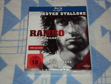 Rambo - The Trilogy - The Ultimate Edition (Uncut) [Blu-ray]  NEU OVP