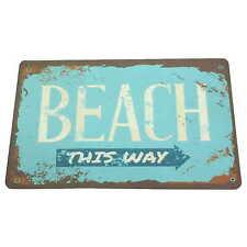 "Retrò Vintage Tappetino da bagno duschmatte ""Beach"" 60x40 Dusch-bagno saugstark bagno e WC"