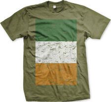 Ireland Faded Flag Country Colors Irish Born From Heritage IRL IE Men's T-Shirt