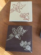 Set Of 2 Silk Wall Art Pictures, Embroidered Floral Pattern On Panel 5673