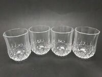 Vintage Diamond Cut Shot Shooter Sipping Glasses - Set of 4