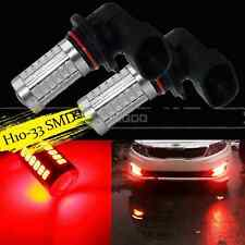 2X H10 RED 33SMD 9145 Projector LED Lens Bulbs For Car Driving Fog Lights