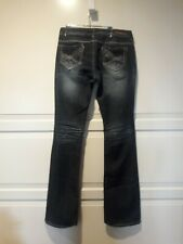 Almost Famous Women's Jeans Size 7 Distressed Embellished Flare
