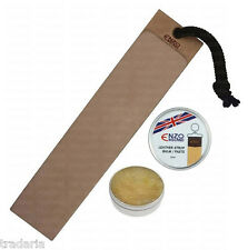 LEATHER STROP STREICHRIEMEN SHARPENING HUNTING KNIFE CUT THROAT RAZOR 25ml PASTE