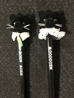 Pair of Vintage Cat Pencils New Old Stock Meow Pencil Kitten 🐱
