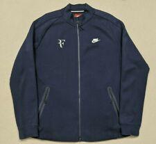 Nike Roger Federer Tech Fleece Court Premier Full Zip Jacket Men's Large Blue