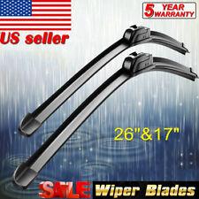 "ALL SEASON 26"" + 17"" J-HOOK OEM Quality Beam Windshield Wiper Blades (Set of 2)"