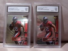 2 card lot 2012 Doug Martin Tampa Bay Buccaneers Topps Finest Rookie 10 GEM MINT