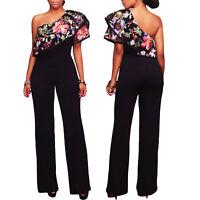 Overall donna tutina jumpsuit tuta intera pantaloni floreale nuovo DL-2144