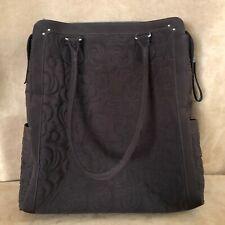 Vera Bradley Espresso Microfiber purse tote shoulder bag quilted North South