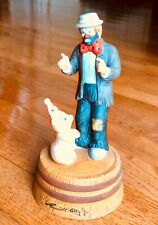 Flambro Porcelain Clown Music Box Send in the Clowns Emmett Kelly Jr Pig Rare