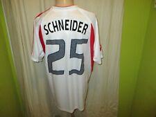 """Bayer 04 Leverkusen Adidas Trikot 2004/05 """"RWE"""" + Nr.25 Schneider Gr.M TOP"""