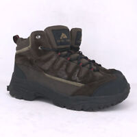 Ozark Trail Mens Denial 8890488 Brown Black Leather Hiking Boots Lace Up Size 8