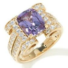 JEAN DOUSSET VERMEIL SIMULATED ALEXANDRITE GEMSTONE RING SIZE 5 HSN SOLD OUT