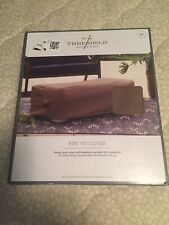 New Threshold Fire Pit Cover Heavy Duty Weather Resist Uv Protection 42x20x16