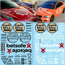 Gumball 3000 Rallye Decals Black+White Street Racing 1:24 Decal
