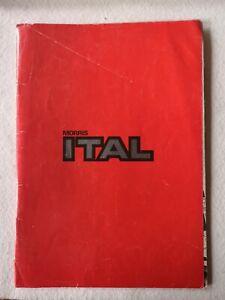 Car Sales Brochure - Morris ITAL