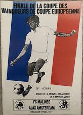 More details for mechelen v ajax european cup winners cup final 1988 mint