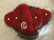 Boots & Barkley RED  FAUX FUR TRAPPER HAT XL Dog Pet EXTRA LARGE Winter Head New