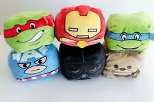 Lot of 6 Cubd Collectibles Plush, Marvel, Star Wars, TMNT Stuffed Animals