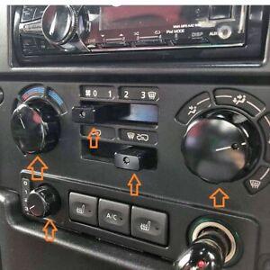 Black Aluminium dash heater control knob set Fit Land Rover Defender TDCI/ PUMA
