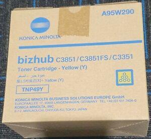 Genuine Konica Minolta TNP49Y Yellow Toner Cartridge for Bizhub C3351 C3851