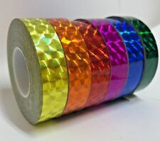 6 rolls of Prism Tape, 1/2 Inch x 25 ft, Your color choices, Holographic Tape