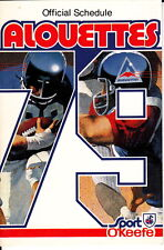 1979 MONTREAL ALOUETTES POCKET SCHEDULE