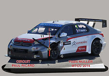 MINIATURE, MODEL CARS, YVAN MULLER, WTTC , PAUL RICARD 2014 en horloge