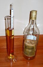 PROOF & TRALLE % ALCOHOL HYDROMETER for MOONSHINE STILL and DISTILLED SPIRITS