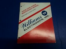Solid State Flipper Maintenance Manual by Williams
