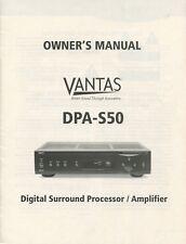 VANTAS DPA-S50 Original Digital Surround Processor Amplifier Owners Manual