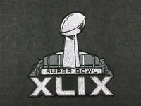 OFFICIAL PLASTIC Seahawks vs Patriots Super Bowl XLIX 49 Flex Chrome Patch