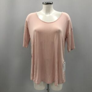New Isabella Oliver Maternity Yoga Top Size 1 UK 8 Pink Jersey Cut Out 081258