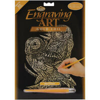 Royal and Langnickel - Engraving Art Set - Owls - Gold Foil