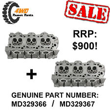 Mitsubishi 6G-74 V6 SOHC Genuine Bare Cylinder Heads PAIR - LEFT/RIGHT HAND