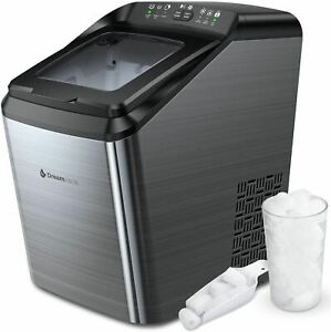 Dreamiracle Ice Maker Machine for Countertop, 33 lbs Bullet Ice Cube in 24H, 9 I