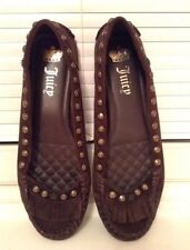 Juicy Couture Pumps Ballerinas Brown Suede Size 8W UK 5- 5.5 NEW