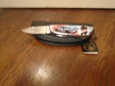 Gorgeous 1970'S Franklin Mint Dale Earnhardt Sr #3 Folding Knife Pouch Hang Tag